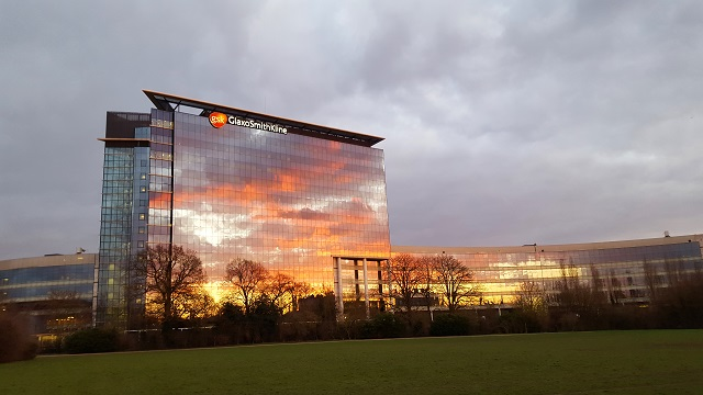 GSK at sunset